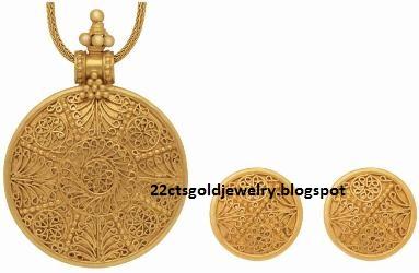 Light Pendant Set Gold jewellery designs light weight pendant set light weight pendant set audiocablefo