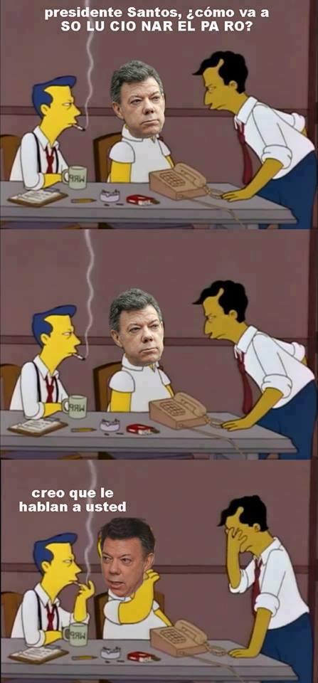 Santos homero simpson fbi capitulo juan manuel santos presidente colombia