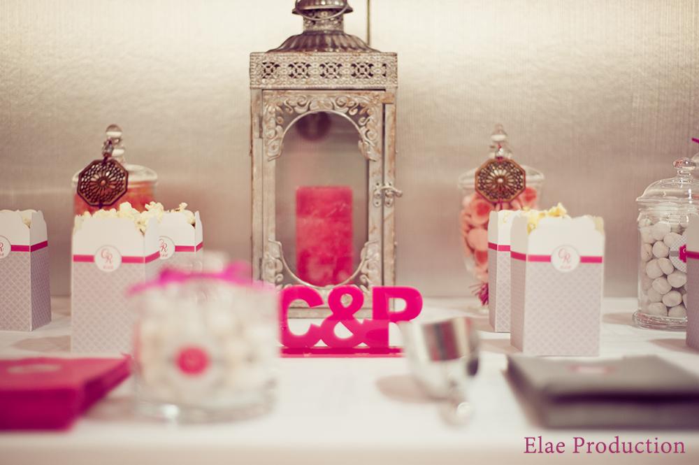 bar à bonbons rose