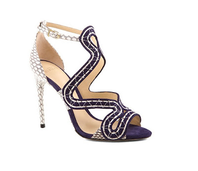 Alexandre Birman blue suede and snakeskin stiletto sandals