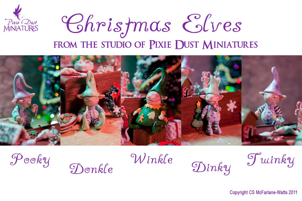 pixie dust miniatures christmas elves for sale on etsy. Black Bedroom Furniture Sets. Home Design Ideas