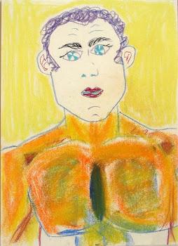 Hombre de pelo violeta...