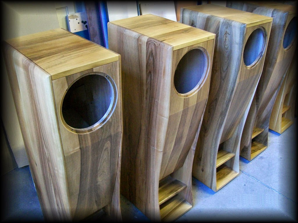 ... The Sound Tuned Onto The Italian Pear Tree Completely Solid Wood Cabinet.  Pear Tree: One Of The Best Sound Of All The Woods For Side Band Speakers.