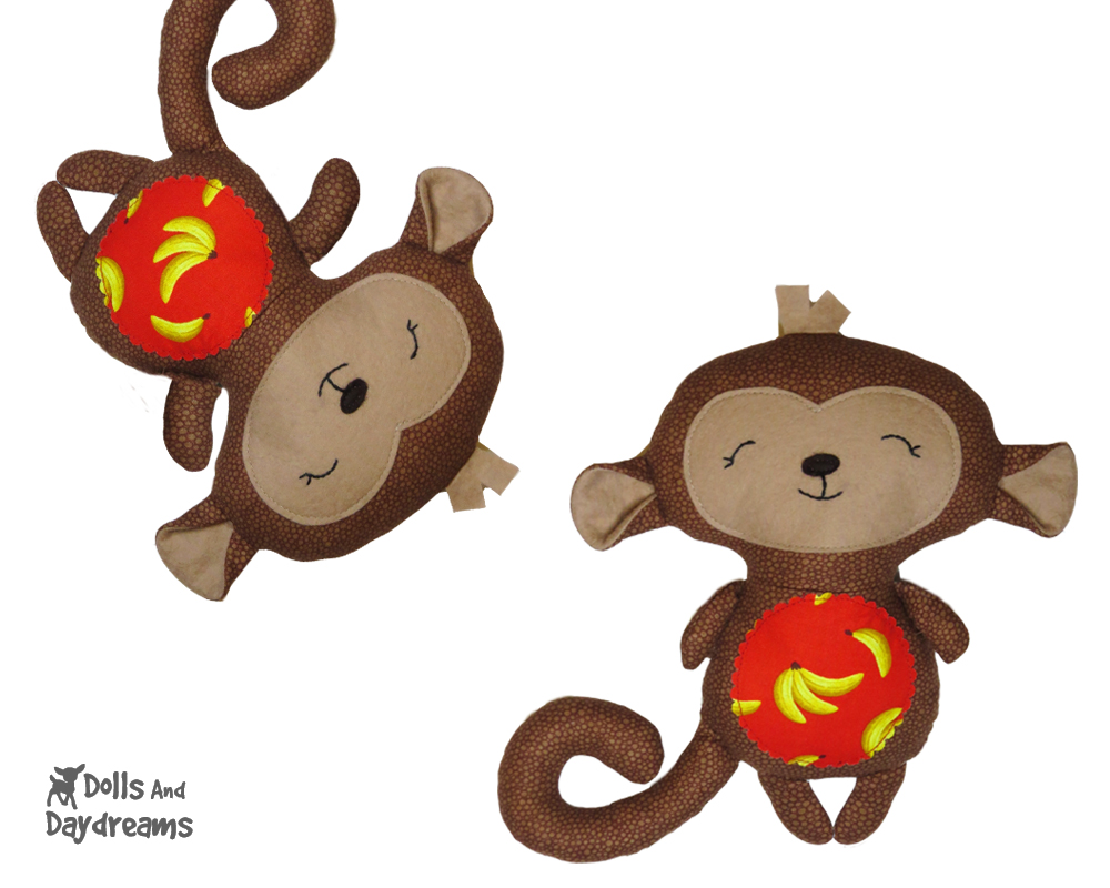 New sewing and ith doll and toy patterns new monkey ith sewing patterns are here jeuxipadfo Choice Image
