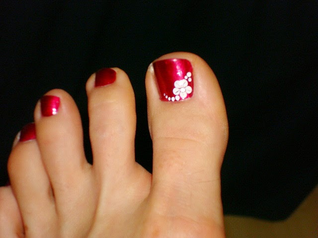Unas con flores de puntos para pieses imagui - Ver decoracion de unas ...