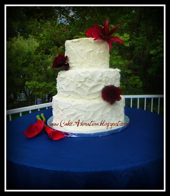 This is such a great Shabby Chic Wedding cake design