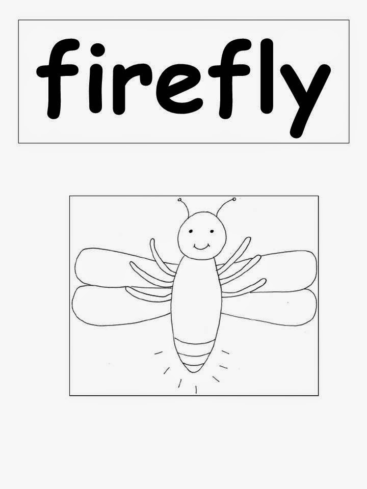 Firefly clipart black and white for Firefly coloring page
