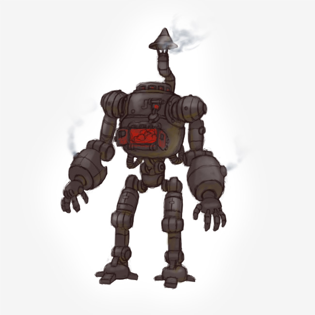 Steam Punk Cooker Robot Painting