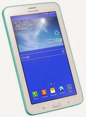 Gambar Samsung Galaxy Tab 3 Lite 7.0 3G Hijau Bagian Depan