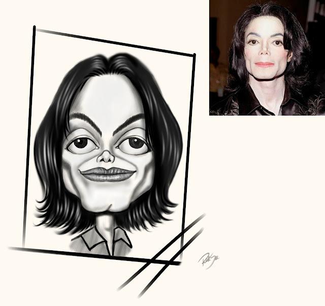 desenho do michael jackson