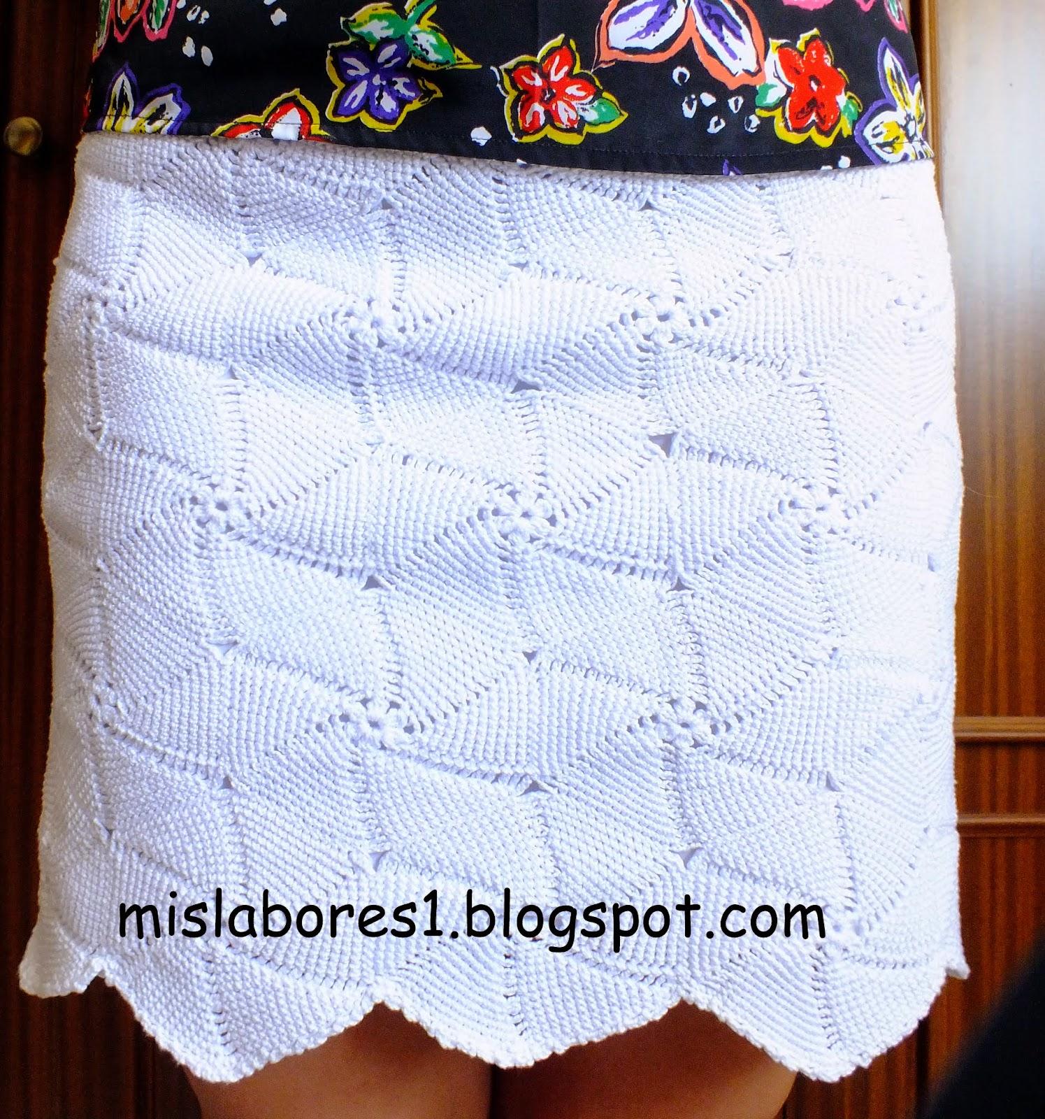COMO HACER FALDA DE GANCHILLO GRAFICO | Patrones Crochet ...