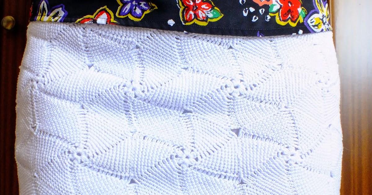 Como hacer falda de ganchillo grafico patrones crochet - Hacer una manta de ganchillo ...