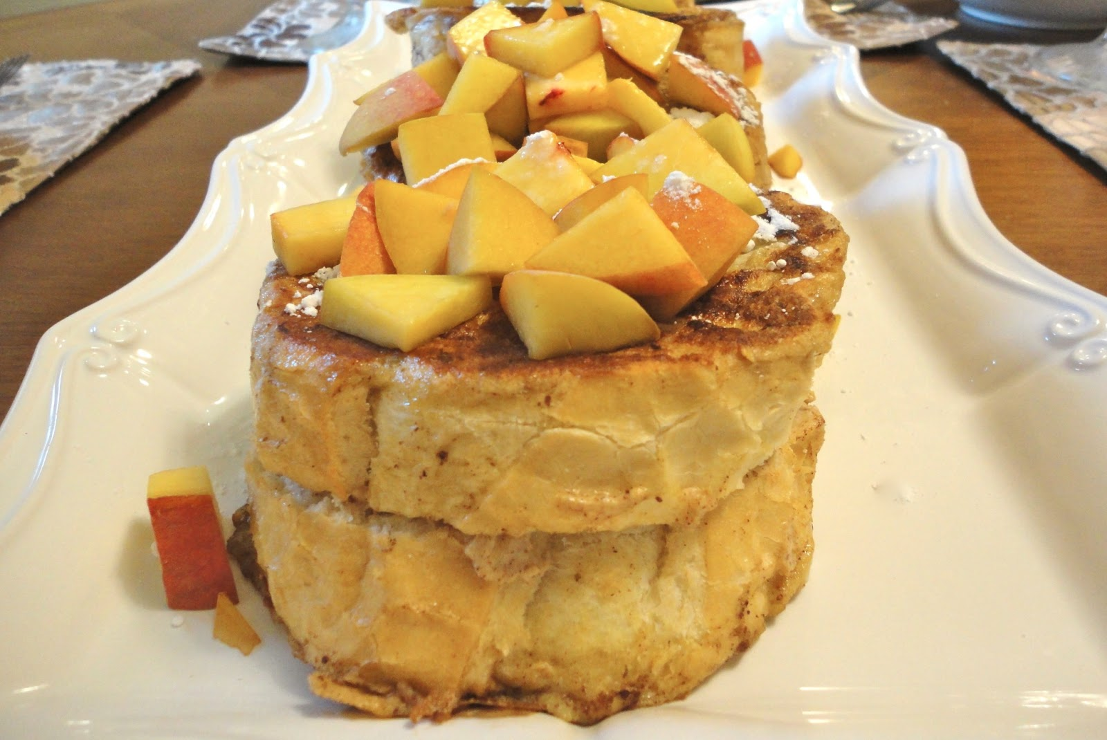peaches and cream stuffed french toast stuffed french toast two peach ...