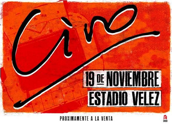 CIRO Y LOS PERSAS. Sábado 19 de noviembre. Estadio Vélez. Próximamente a la venta