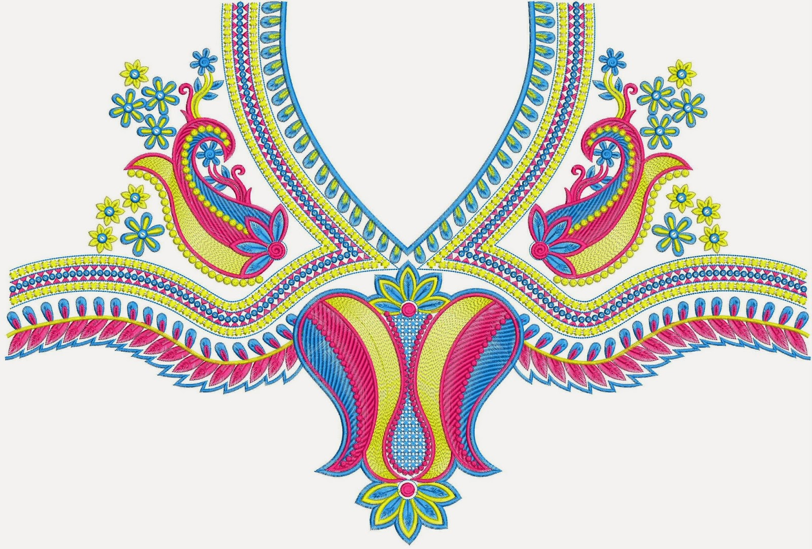 Most Popular Embroidery Neck Designs  Embdesigntube