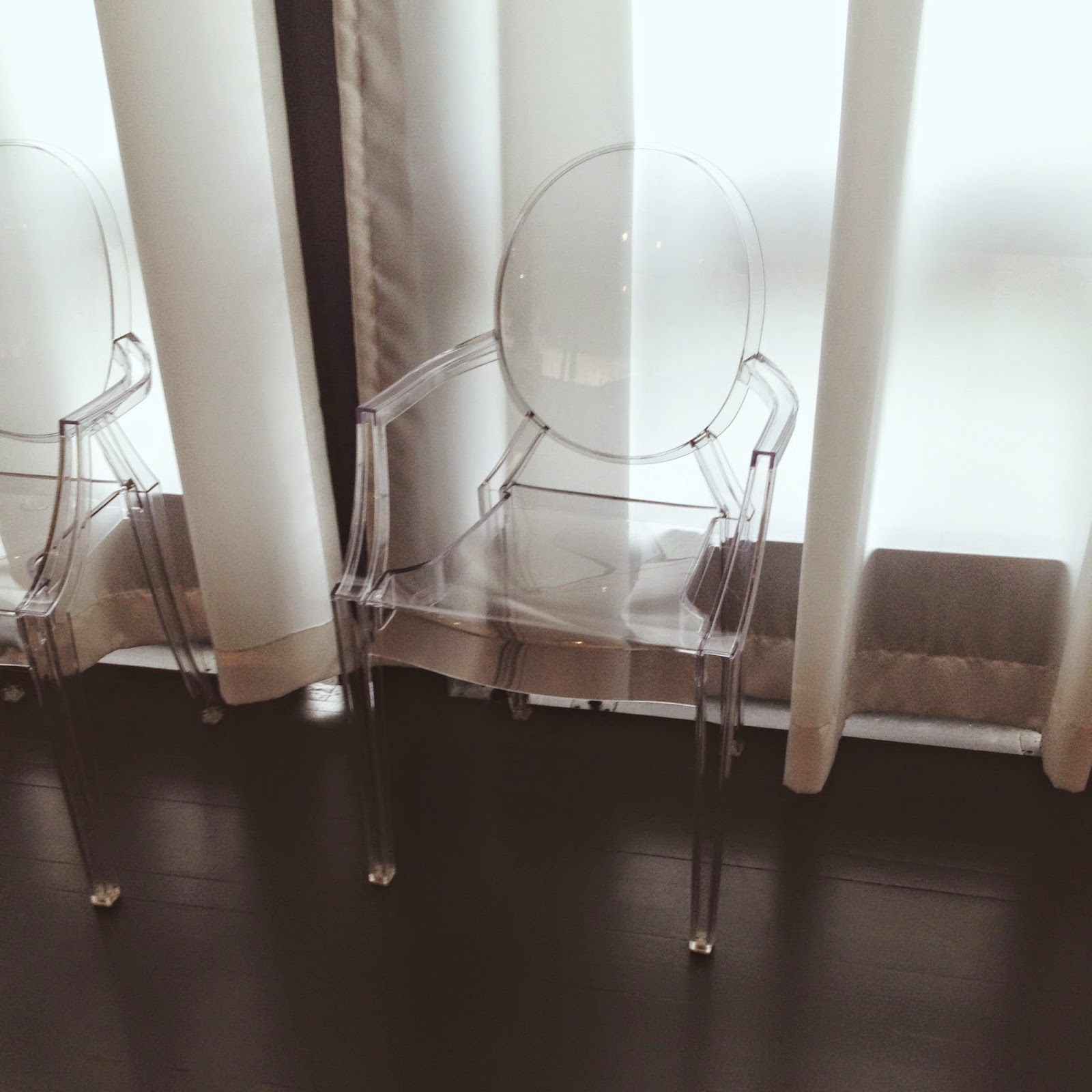 clear, plastic chairs