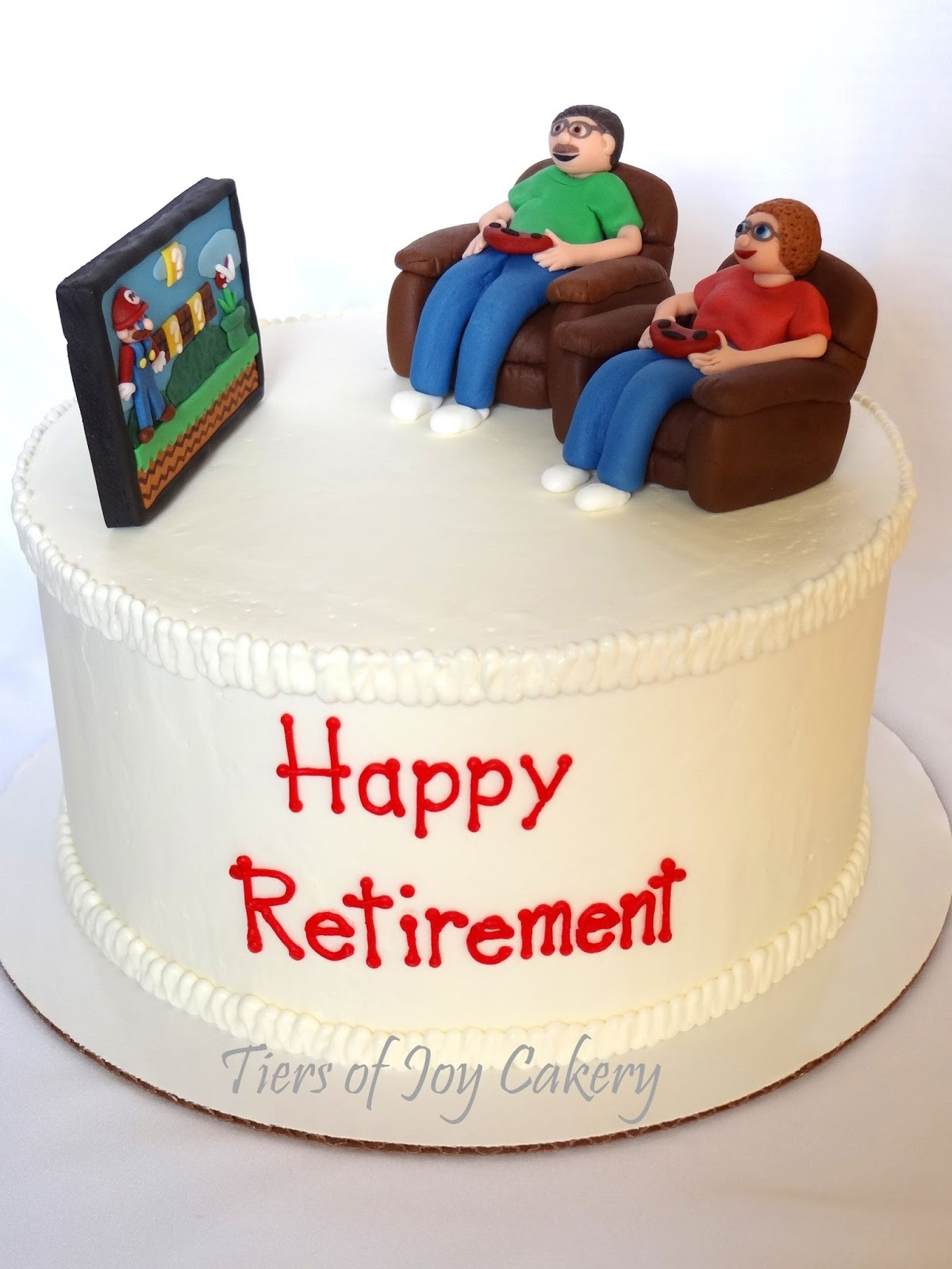Retirement Cake Decorations