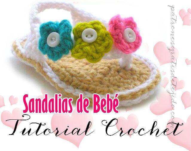 Aprende a tejer sandalias de bebé / Tutorial Ganchillo | Crochet y ...