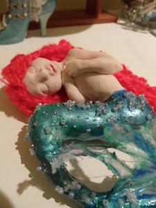 Sirena en polymer clay