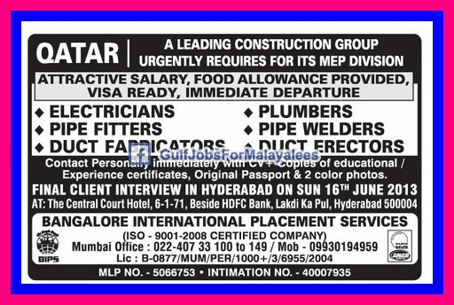 A Leading Construction Group In Qatar - Gulf Jobs for ...