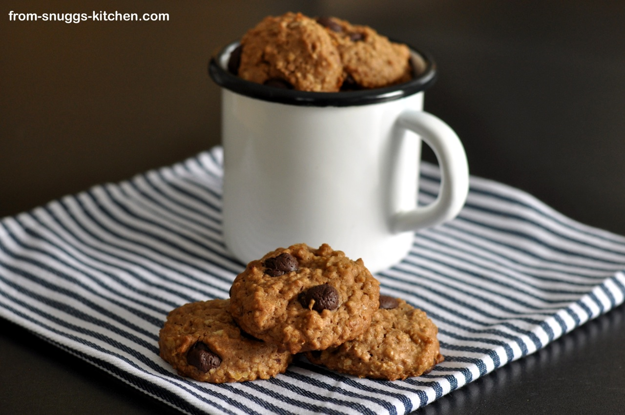 Mocca-Haferflocken-Cookies, vegan