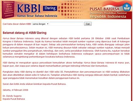 10 Kamus Besar Bahasa Indonesia Daring ( KBBI Online ) Terpopuler