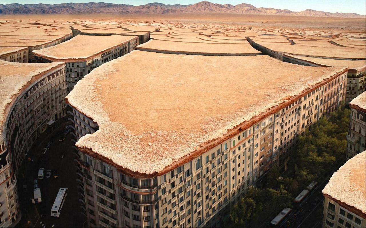 Wallpapernarium edificios en las grietas de el suelo seco for Tierra suelo wallpaper