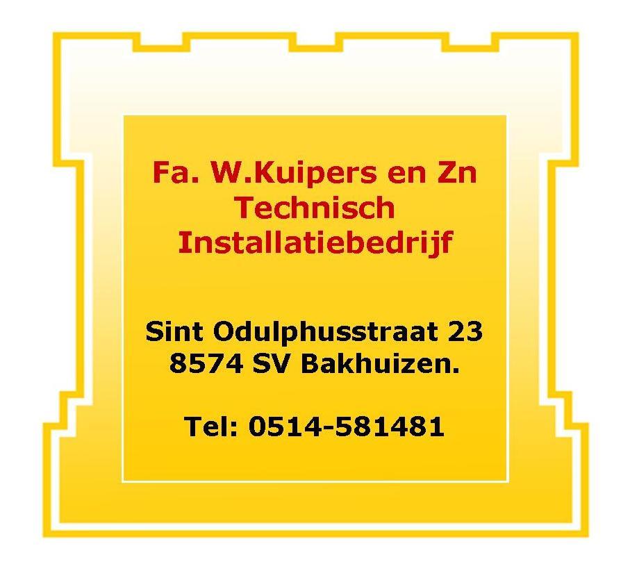 Sponsor: Firma W. Kuipers en Zn.           Bakhuizen