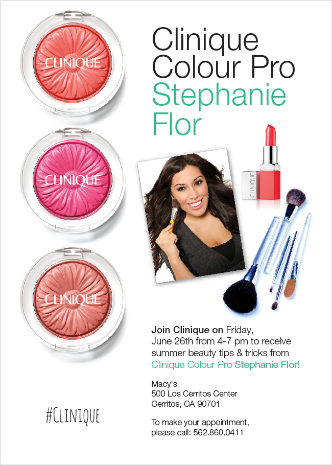 Beauty Professor: Attention Southern CA Locals: Clinique Special Event 6/26/15!