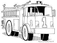 Gambar Mobil Pemadam Kebakaran Untuk Diwarnai