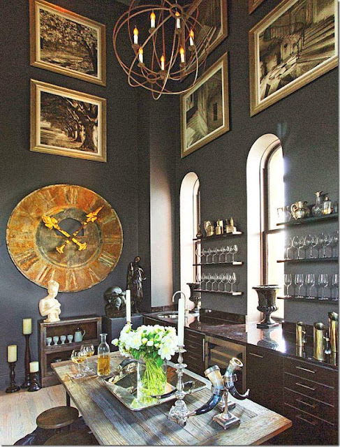 beautiful elle decor kitchen bar dining area black gold