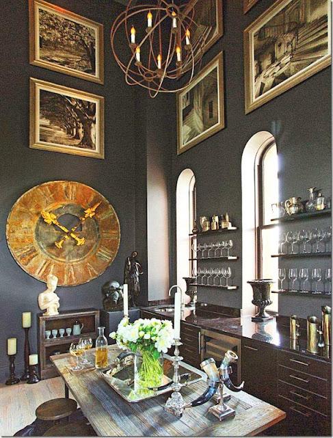 beautiful elle decor kitchen bar dining area black gold