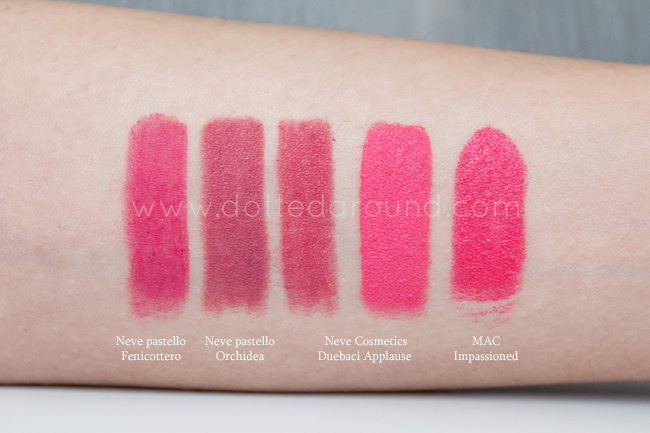 Neve Applause swatch matita duebaci