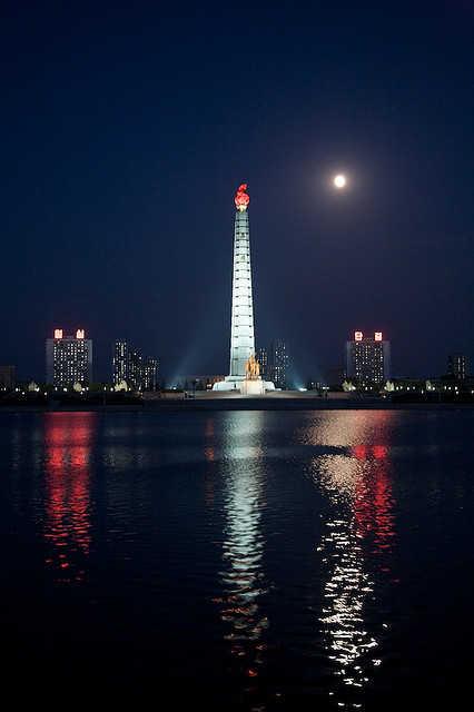 Pyongyang Night Skyline