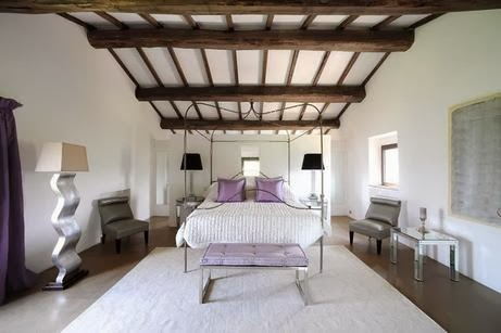 ceiling beams design ideas for bedroom interior