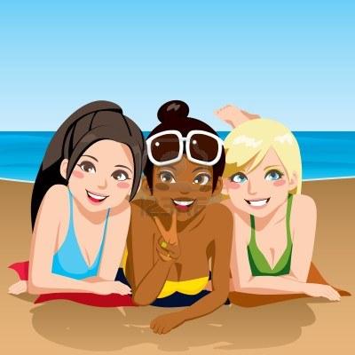Tres amigas muy cachondas y borrachas en una piscina