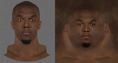 NBA 2K13 David West Cyberface 3D Texture Preview