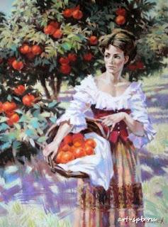 cuadros-de-señoras-con-vestidos-pintados-al-oleo
