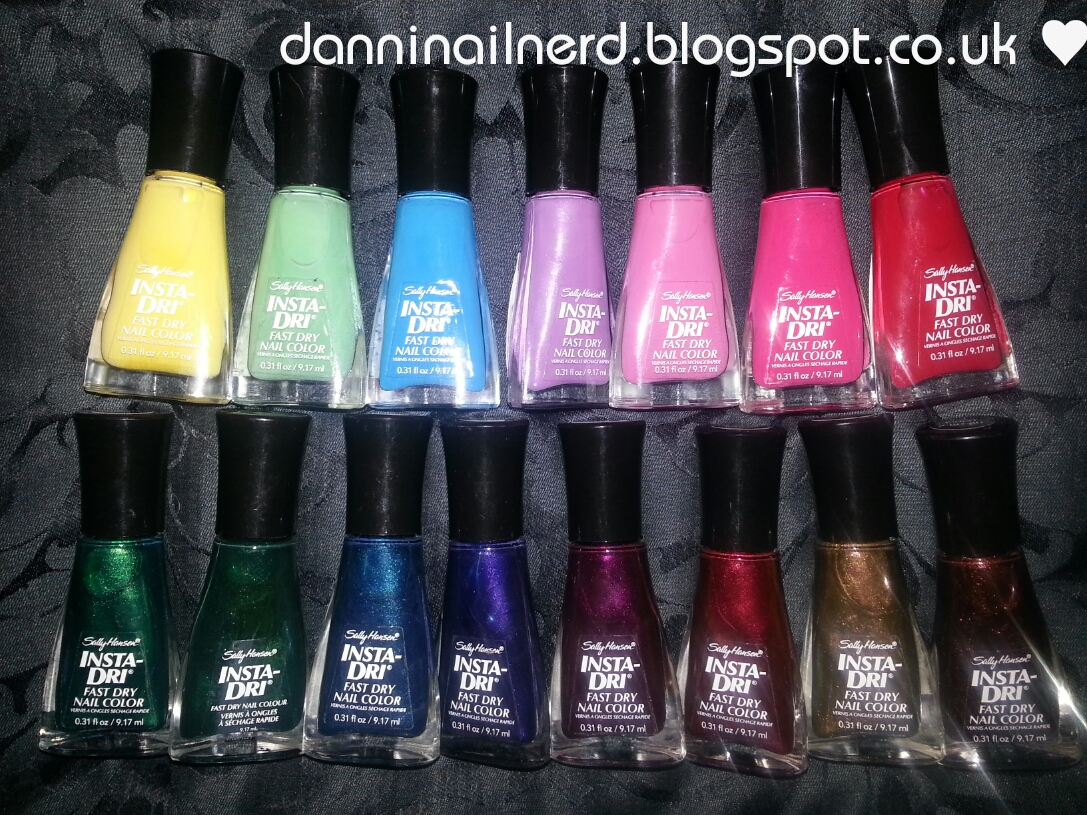 Danni Nail Nerd ♥: Sally Hansen Insta-Dri Stamping Tests and Swatches