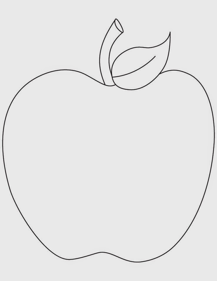 Apple Coloring Page Printable Free Pages For Kids