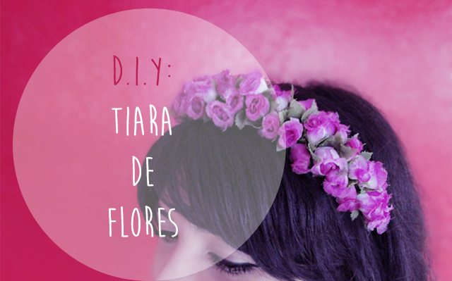 faça você mesmo tiara de flores como fazer