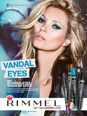 Rimmel London Kate Moss nuevas sombras de ojos en lápiz Scandaleyes Eye Shadow