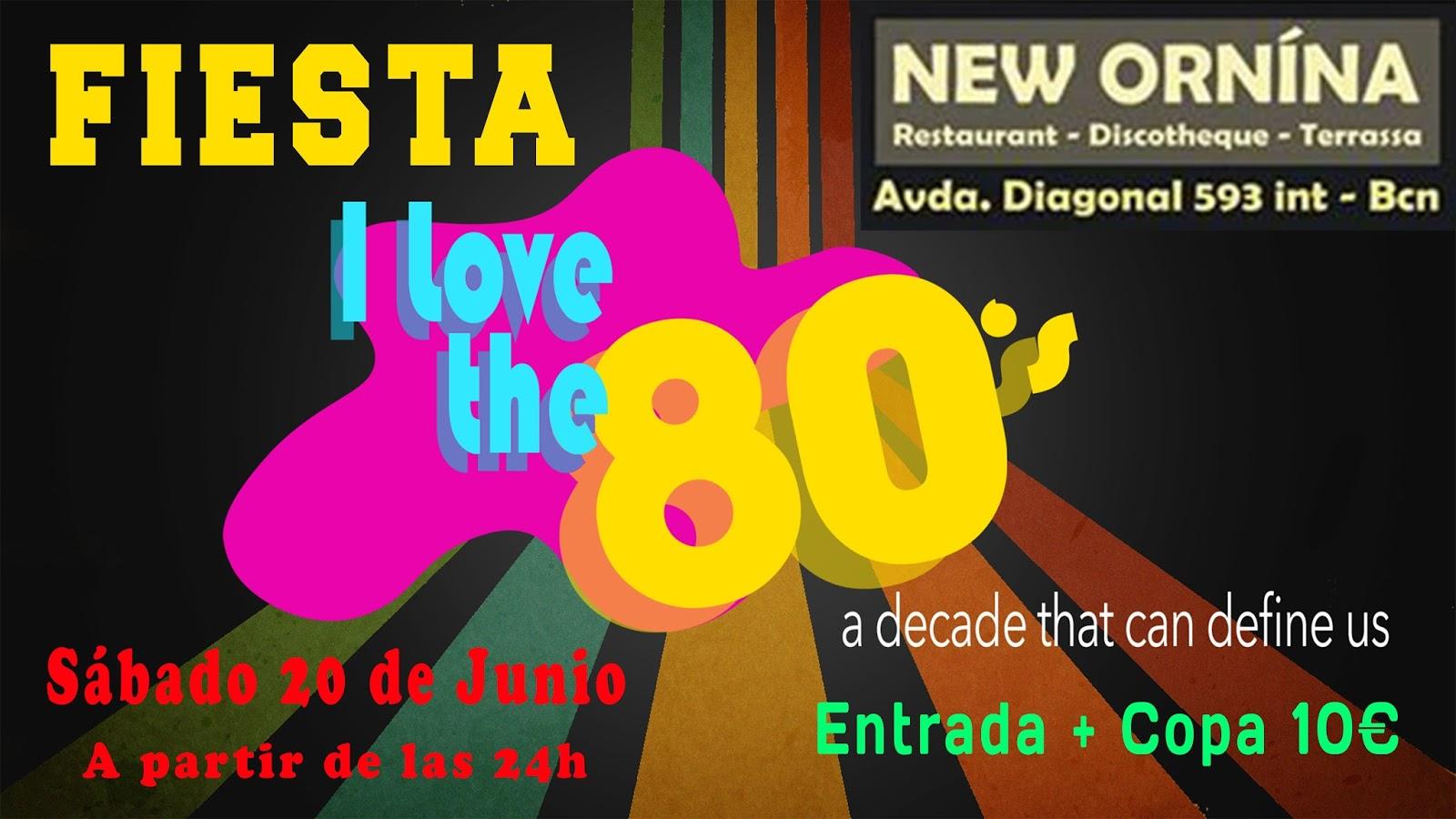 Flyer I Love 80s