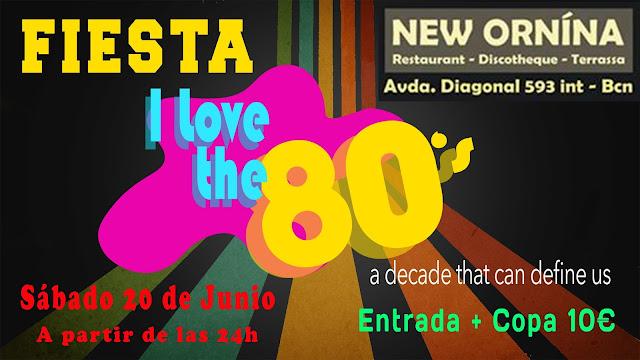 Flyer Fiesta I Love 80s