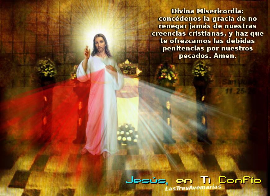 divina misericordia con oracion