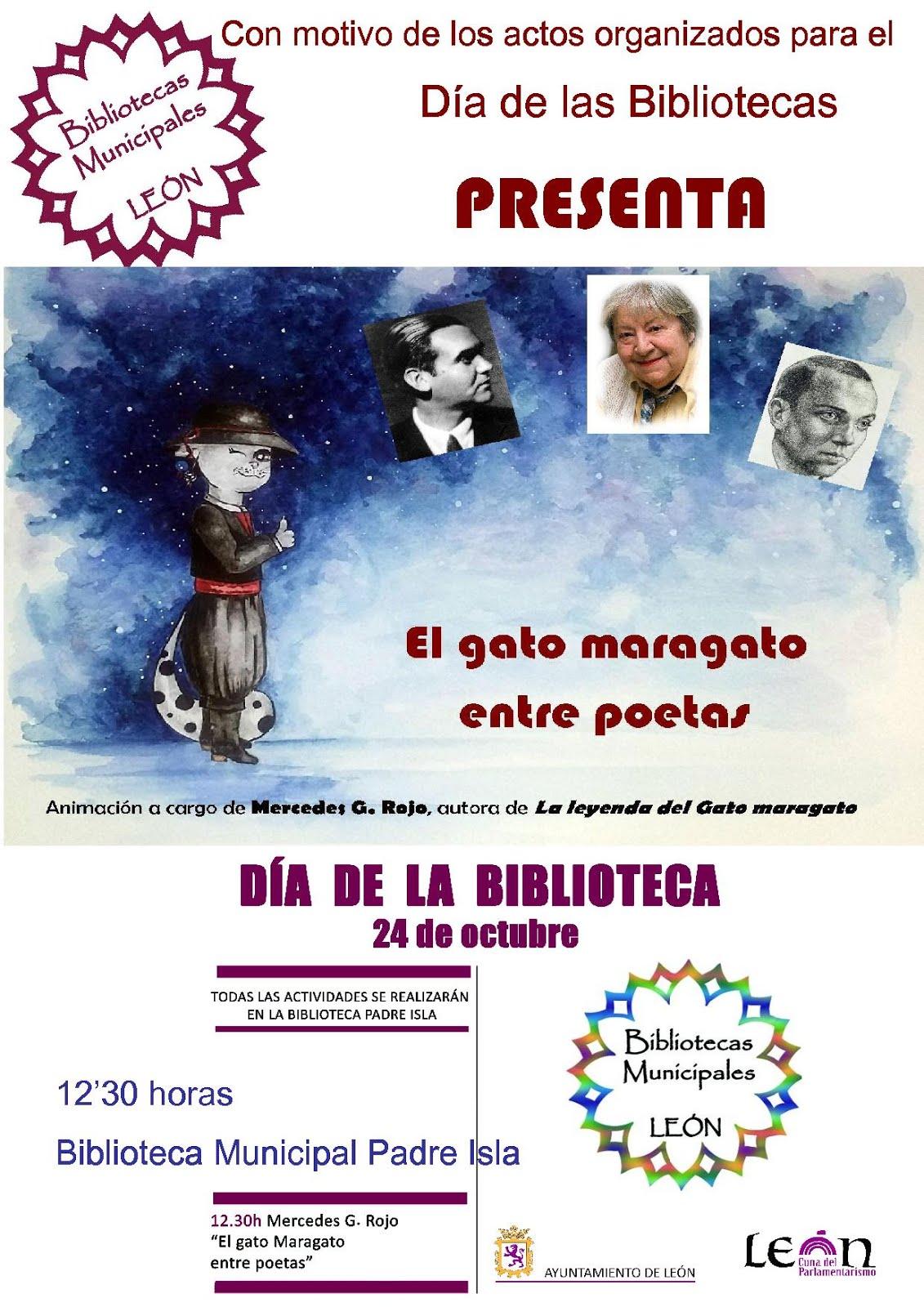 """""""El gato maragato entre poetas"""" para celebrar el Día de las Bibliotecas en León"""