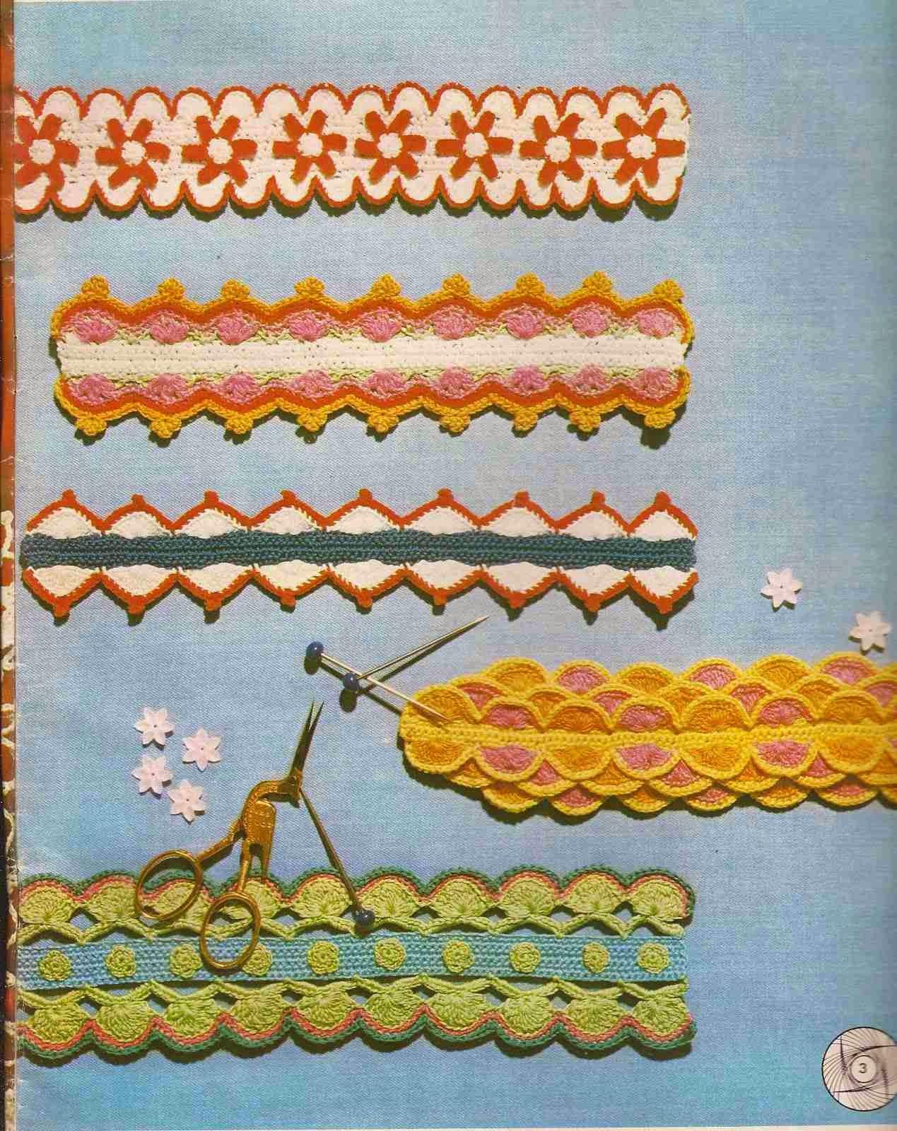 #120 Encajes a Crochet o Ganchillo