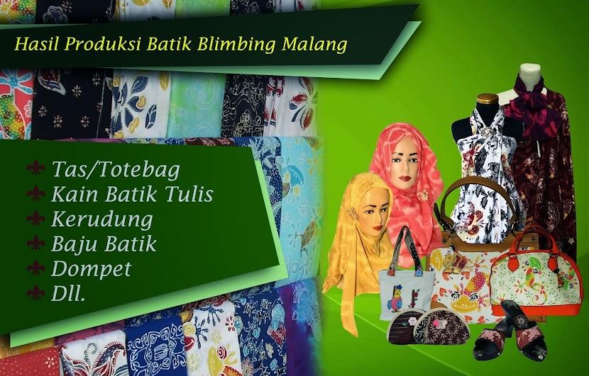 Hasil Produksi Home Industri Batik Blimbing Malang