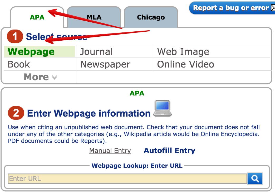 free apa format website citation generator