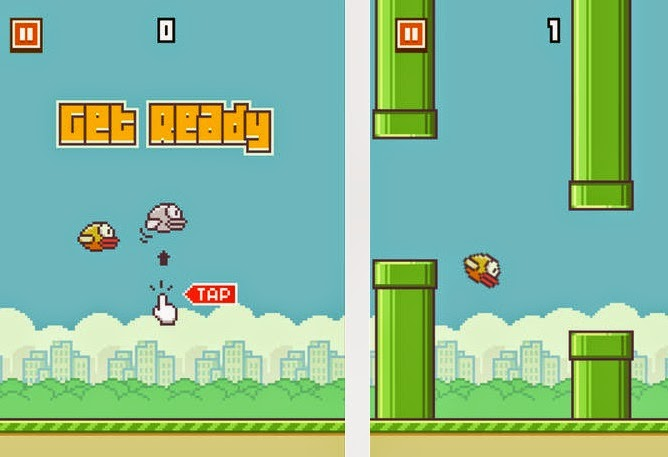 Free Download PC Games : Flappy Bird For PC